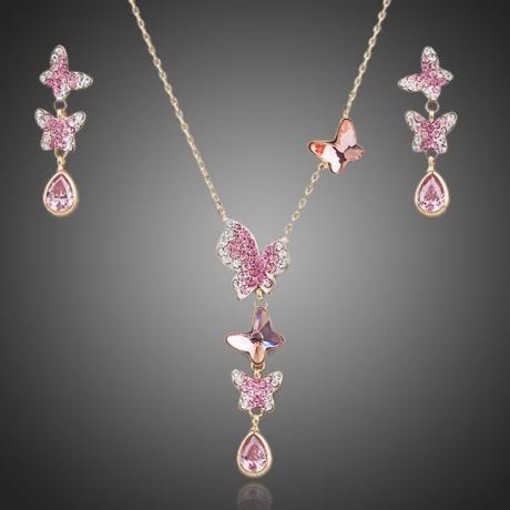 Souprava náhrdelníku a náušnic Swarovski Elements Bella Farfalla