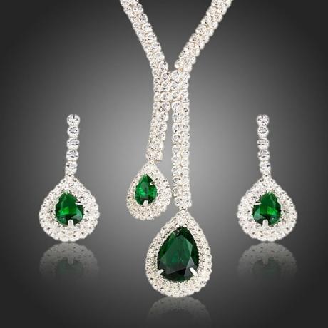 Souprava náhrdelníku a náušnic Swarovski Elements Pauline