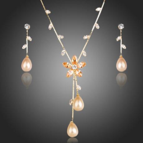 Souprava náhrdelníku a náušnic Swarovski Elements Monicalaure