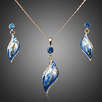 Souprava náhrdelníku a náušnic Swarovski Elements Feminine Beauty Royal Blue