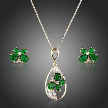 Souprava náhrdelníku a náušnic Swarovski Elements Irenee - motýlek