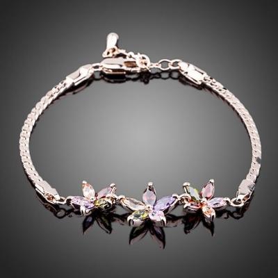 Náramek Swarovski Elements Laurette - květina