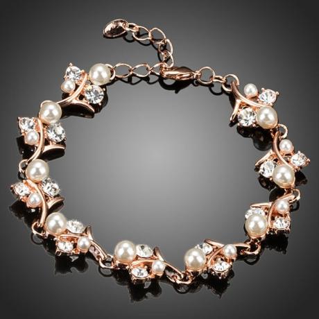 Náramek Swarovski Elements Céline - květina