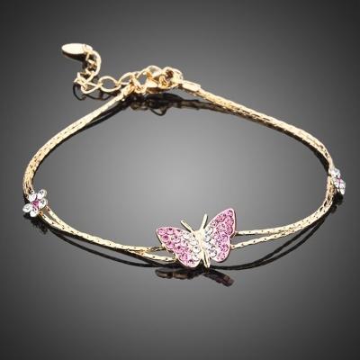 Náramek Swarovski Elements Parnella - motýl