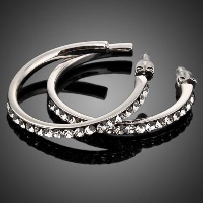 Náušnice Swarovski Elements Adelisa - kruhy
