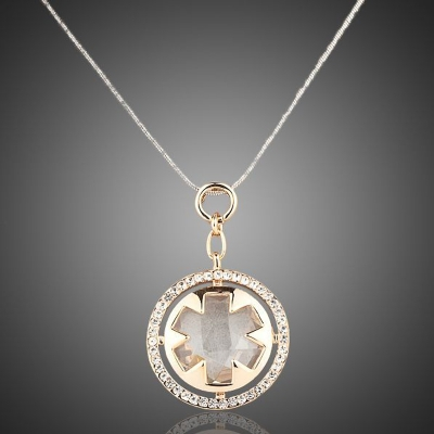Dámský pozlacený náhrdelník Swarovski Elements