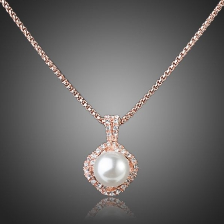 Náhrdelník Swarovski Elements s perlou Flaviota