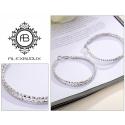 Náušnice Bagni Silver- kruhy