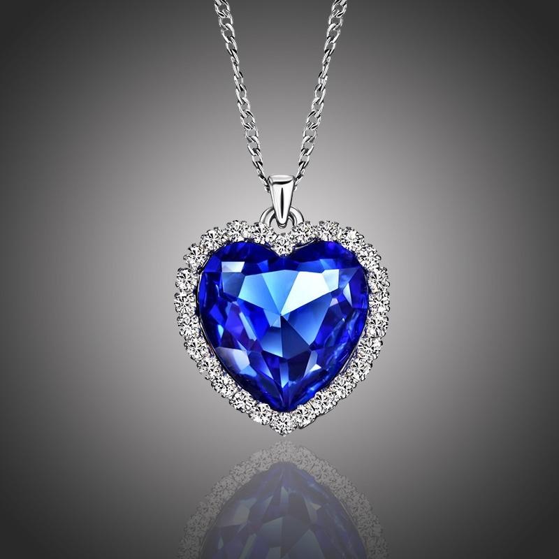 Pozlacený náhrdelník Swarovski Elements Livio