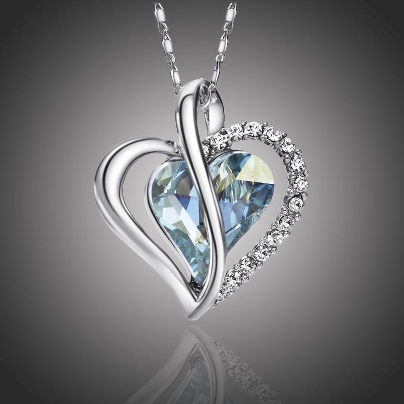 Náhrdelník Swarovski Elements True Love modrý