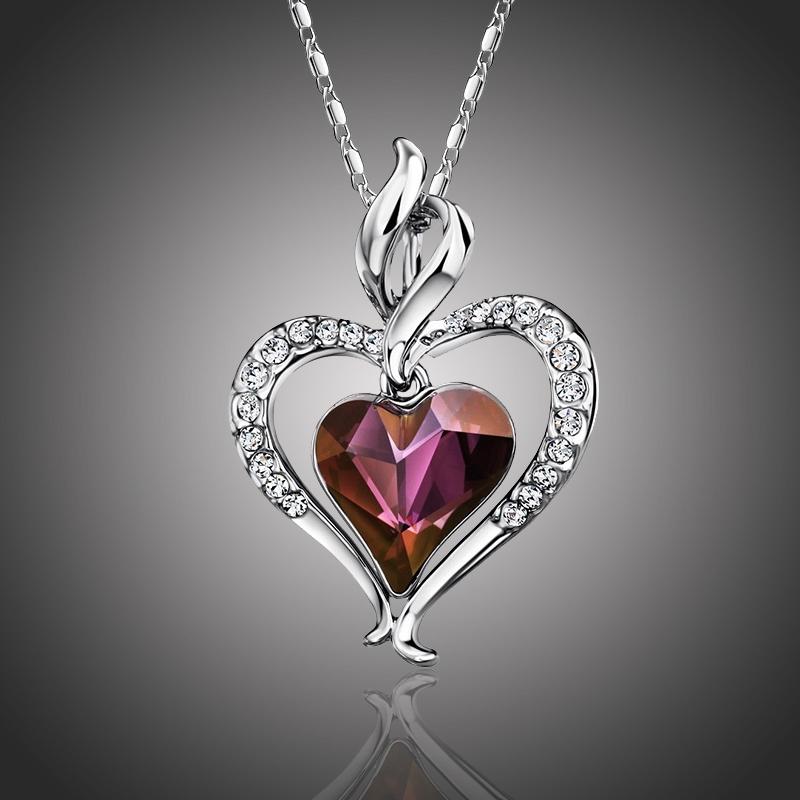 Náhrdelník Swarovski Elements True Love červený