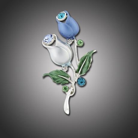 Brož se zirkony Tulipe
