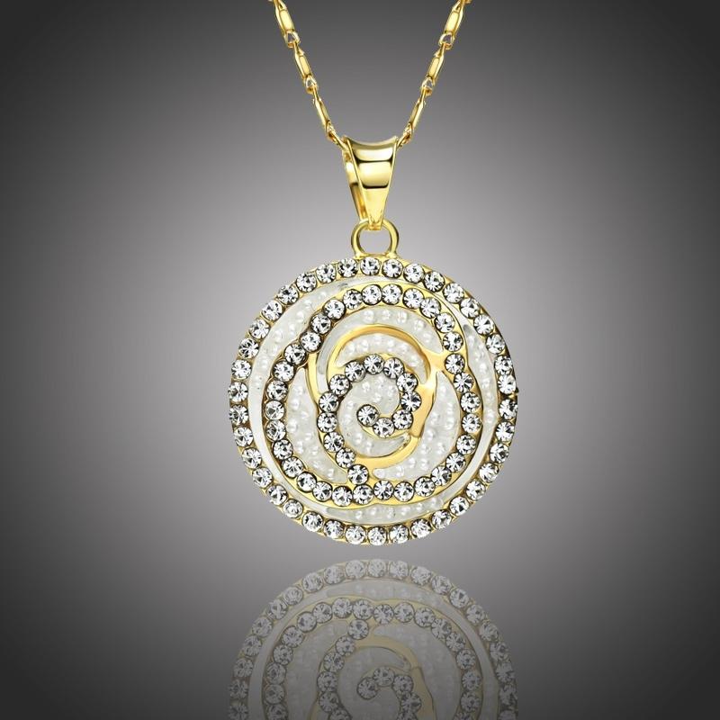 Náhrdelník Swarovski Elements Pavoni - kruh