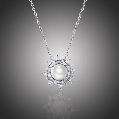Náhrdelník Swarovski Elements s perlou Antonelo