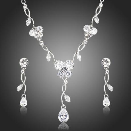 Souprava náhrdelníku a náušnic Swarovski Elements Gema