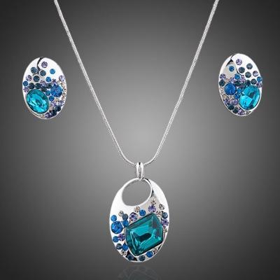 Souprava náhrdelníku a náušnic Swarovski Elements Acqua
