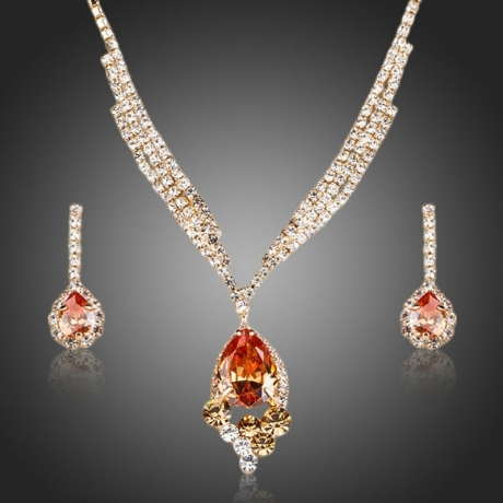 Souprava náhrdelníku a náušnic Swarovski Elements Matrimonio