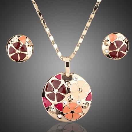 Souprava náhrdelníku a náušnic Swarovski Elements Fiori