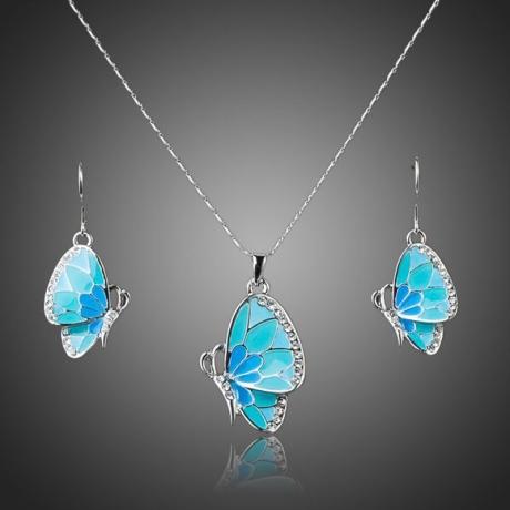 Souprava náhrdelníku a náušnic Swarovski Elements Byanca - motýlek