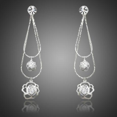 Náušnice Swarovski Elements Rosalia - květina