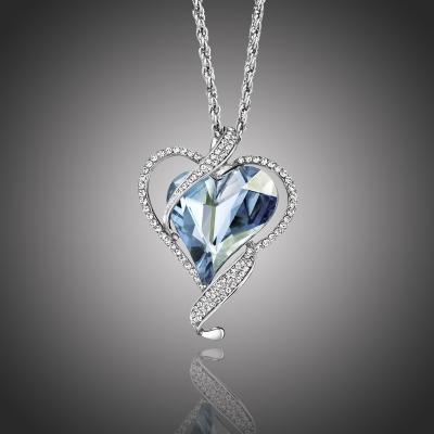 Dlouhý náhrdelník Swarovski Elements True Love - srdíčko