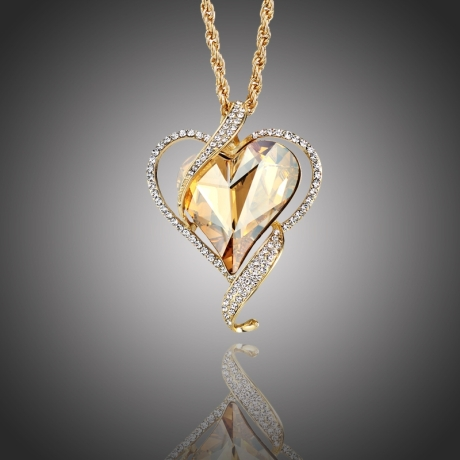 Náhrdelník Swarovski Elements True Love zlatý