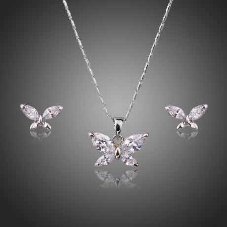 Souprava náhrdelníku a náušnic Swarovski Elements Maria - motýlek