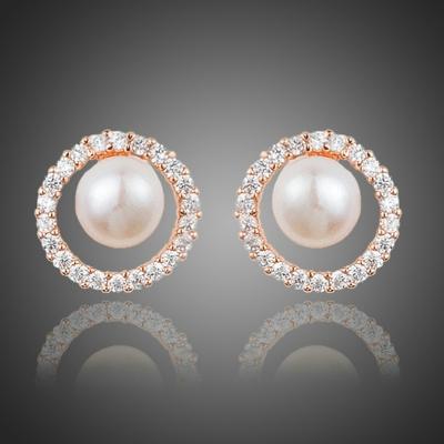 Náušnice Swarovski Elements Bruno - perla