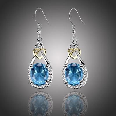 Náušnice Swarovski Elements Santini - Luxus a Elegance - srdíčko
