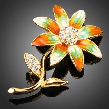 Brož Swarovski Elements Giachetta - květina