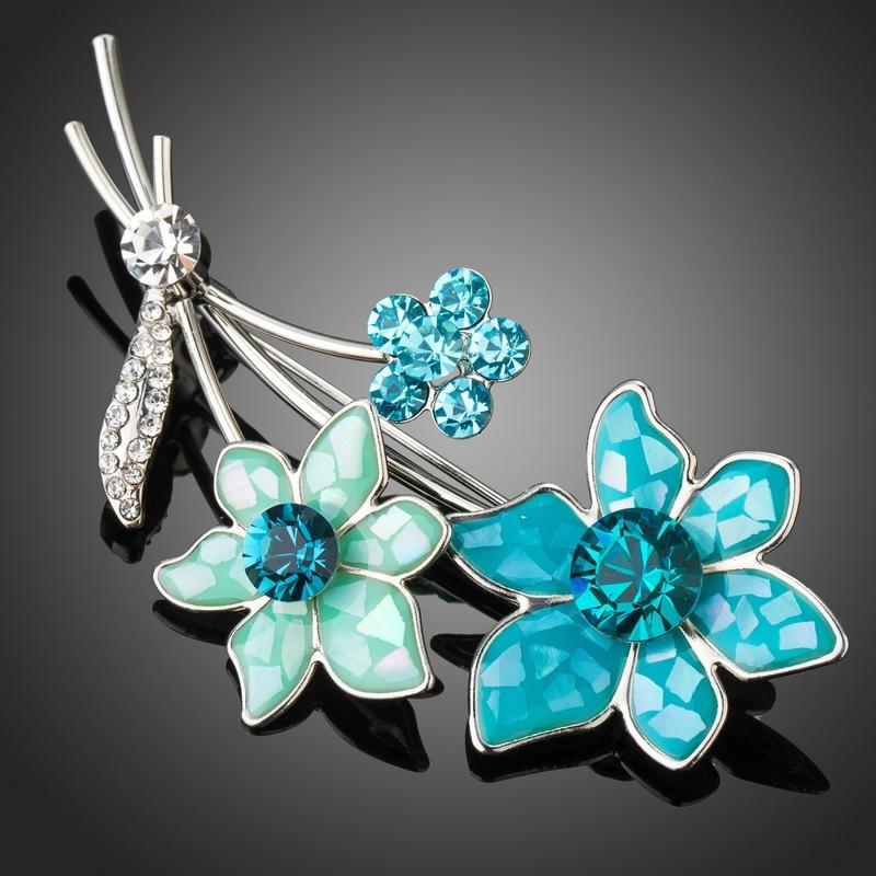 Brož Swarovski Elements Jolanda - květina