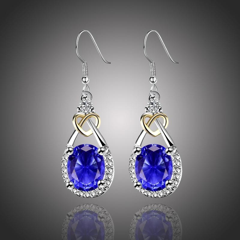 Náušnice Swarovski Elements Santini Sapphire