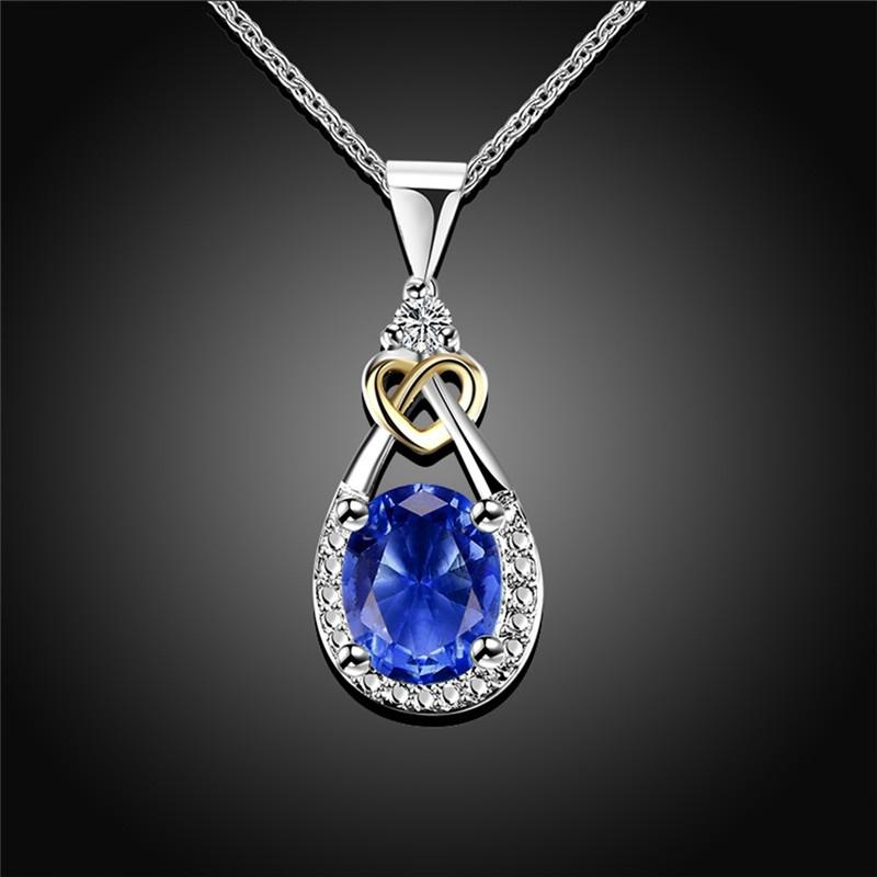 Náhrdelník Swarovski Elements Santini Sapphire