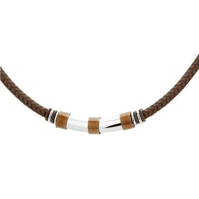 Pánský náhrdelník William chirurgická ocel, bavlněná šňůrka