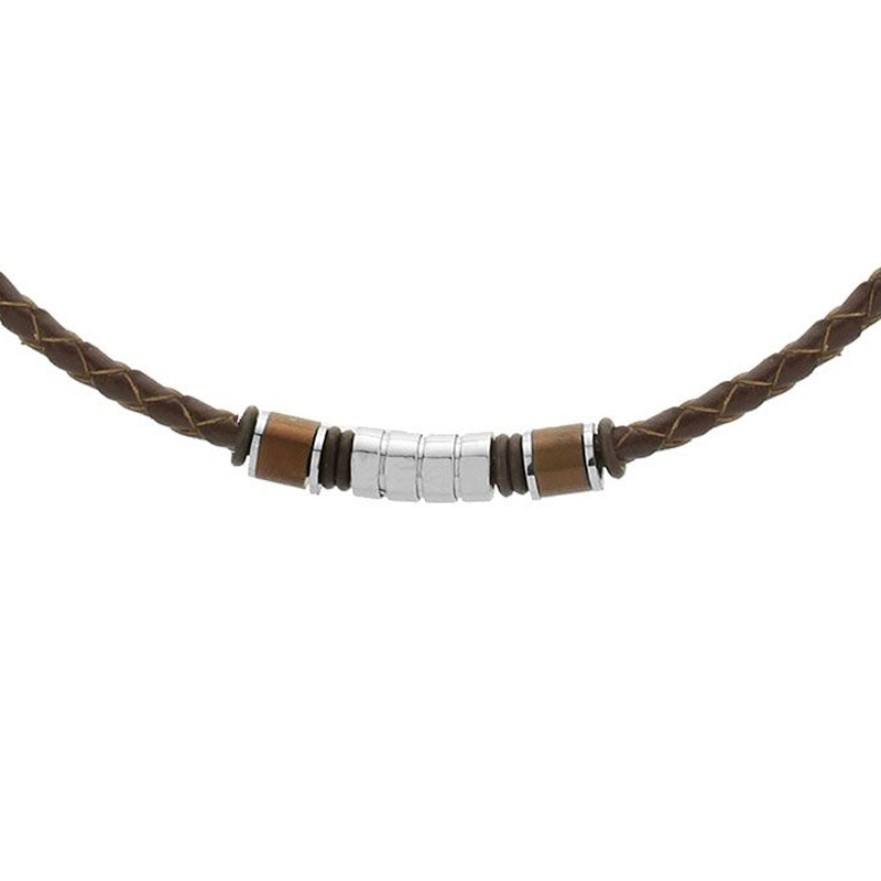 Pánský náhrdelník Harry přírodní kůže a chirurgická ocel