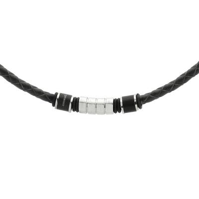 Pánský náhrdelník Michael přírodní kůže a chirurgická ocel