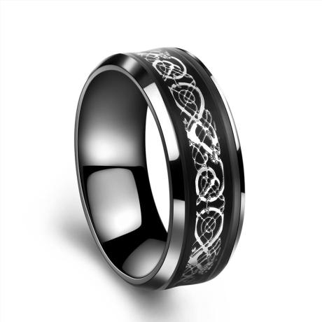 Ocelový prsten z chirurgické oceli Dragonis