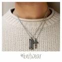 Pánský náhrdelník Enrique chirurgická ocel - kříž