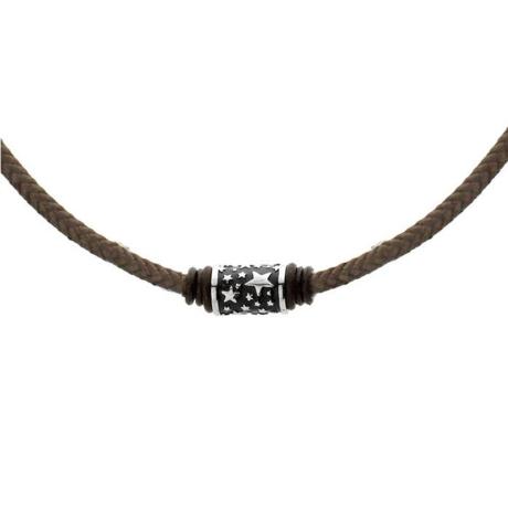 Pánský náhrdelník Tyler chirurgická ocel, bavlněná šňůrka