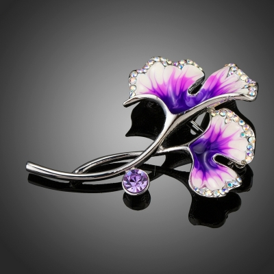 Brož Swarovski Elements Guidi - květina