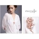 Brož Swarovski Elements s perlou Cristina