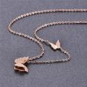 Ocelový náhrdelník Parisi - motýlek