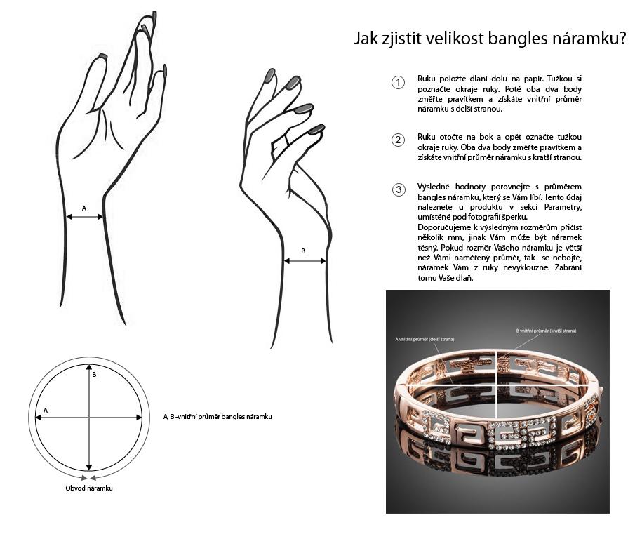 bangles náramky - měření